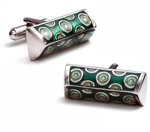 green-peacok-cufflinks