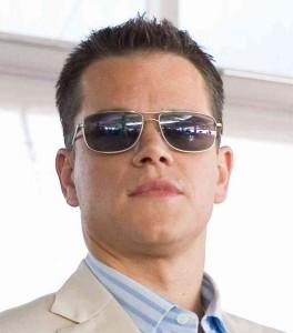 Matt-Damon ochelari de soare, fata patrata