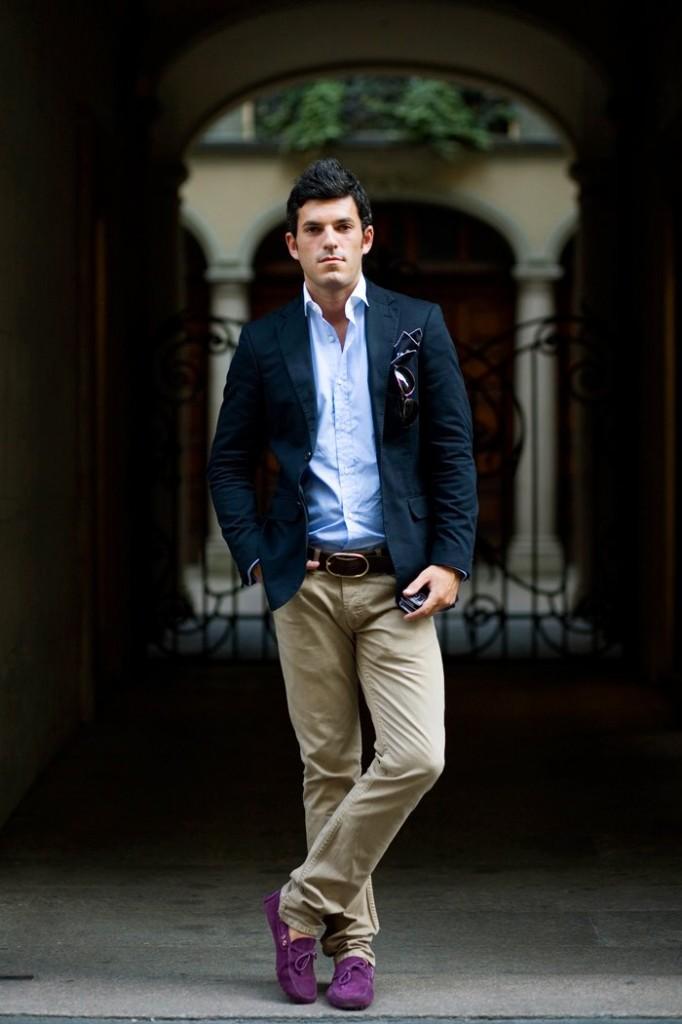 pantaloni kaki, camasa, sacou sport Stil și inspirație luna iulie săptămâna 3