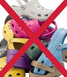 crocs, interzis crocs