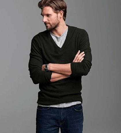pulover in V, pulovere barbati
