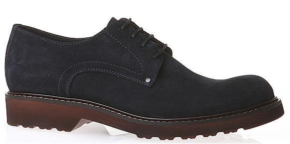 pantofi piele intoarsa bleumarin
