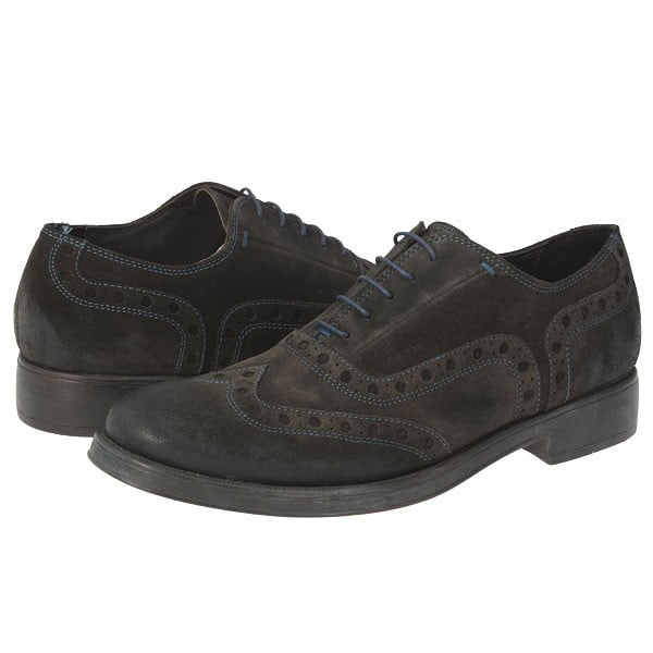 pantofi piele intoarsa maro