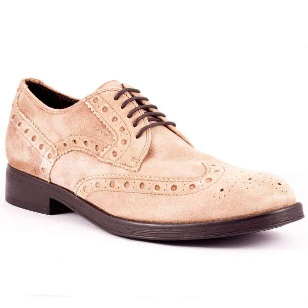 pantofi piele intoarsa brogue