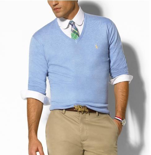 pulover in V, pulovere pentru barbati
