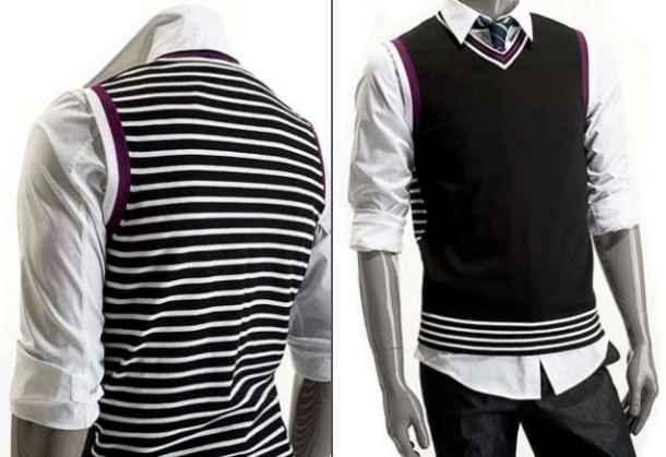 vesta, casual, lana, stil, masculin