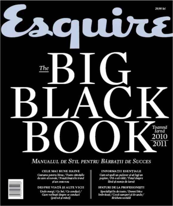 Recenzie Esquire The Big Black Book Toamnă - Iarnă 2010/2011