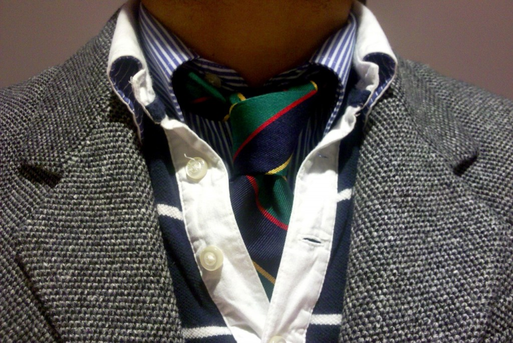 camasa cravata si tricou rugby