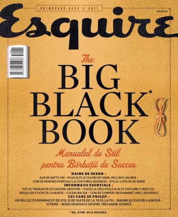 Recenzie Esquire The Big Black Book primăvară - vară 2011