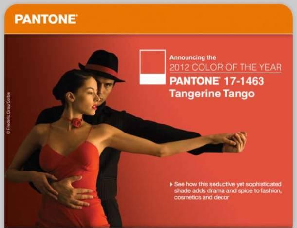 Culoarea anului 2012 - Tangerine Tango