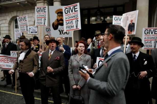 costum, protestul Savile Row