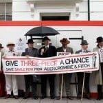 Cum a fost la protestul de pe Savile Row