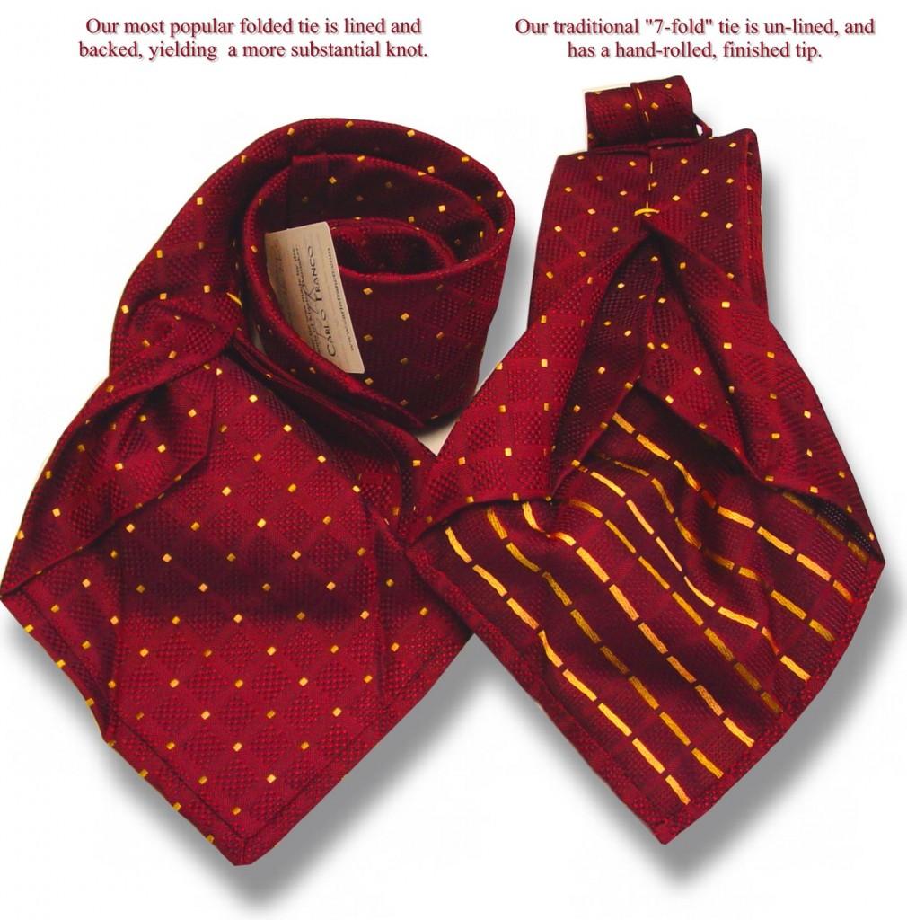 cravata șapte împăturiri