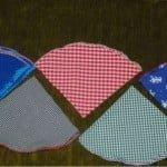 Batiste de buzunar normale, circulare şi cu nasture