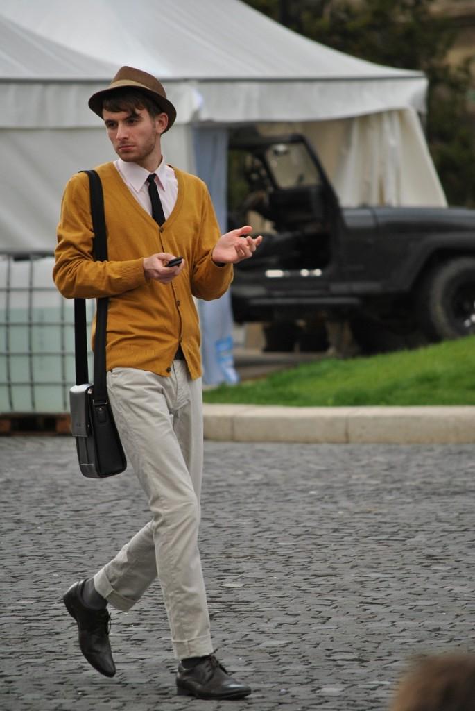 street style, cardigan, palarie