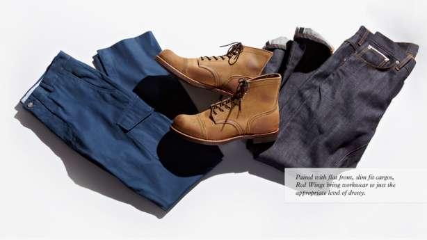 asortează încălțămintea  pantaloni