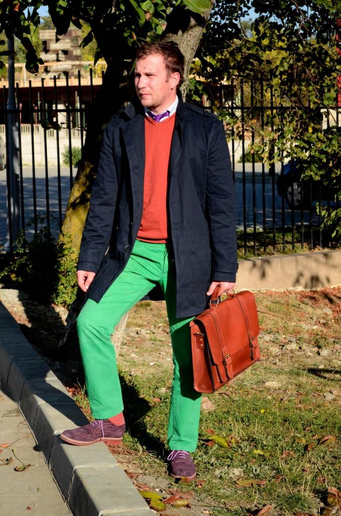 pulover, debenhams, geanta, pantaloni verzi, pantofi