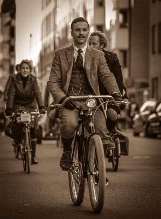 Bike in Tweed Suedia