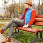 Vesta Gilet şi pantalonii flanel