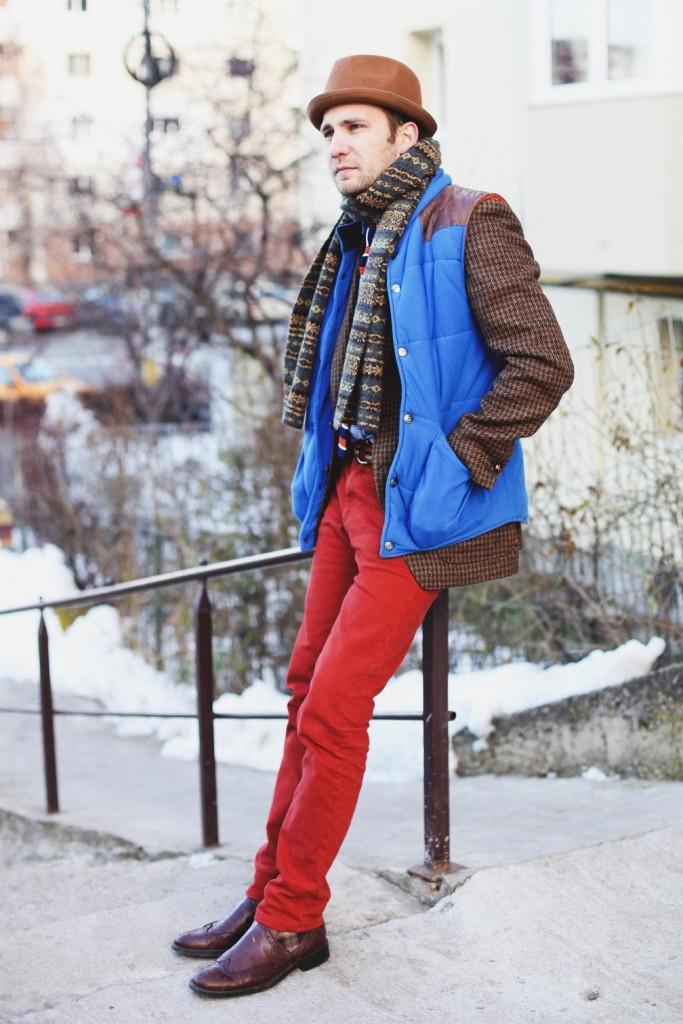 Vesta Gilet, sacoul din tweed