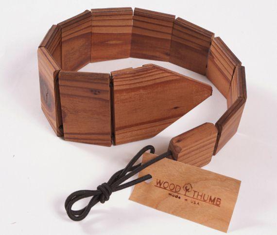 cravata din lemn
