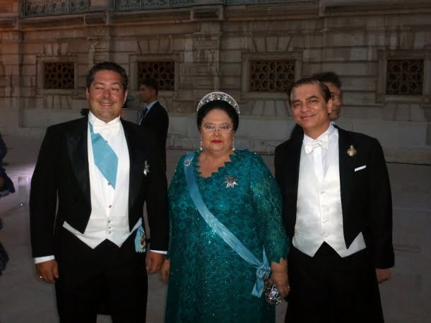 Impreuna cu Marea Ducesa Maria Vladmirovna a Rusiei si fiul sau Marele Duc George al Rusiei