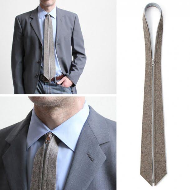 Cravata cu fermoar