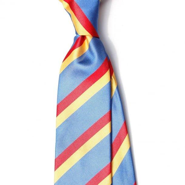 Cravata matase albastra