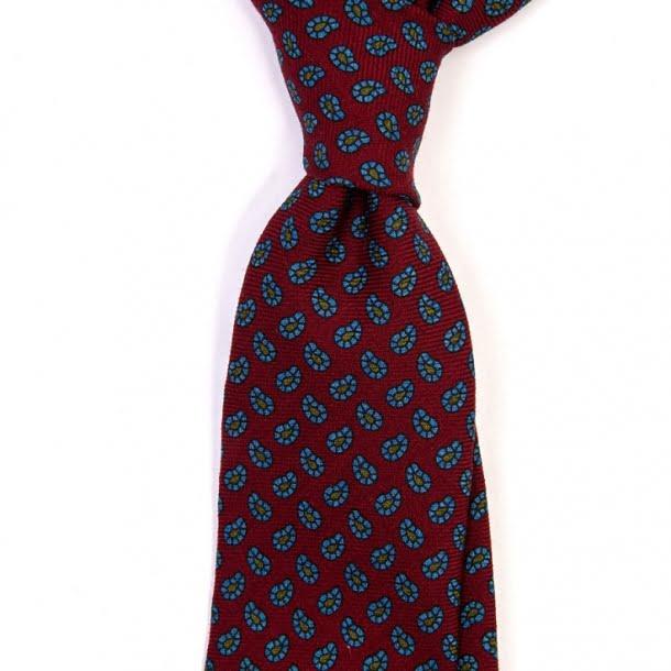 Cravată lână Paisley