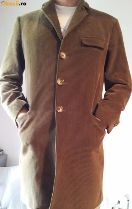 Palton catifea raiata