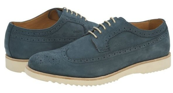 Pantofi albastrii piele intoarsa