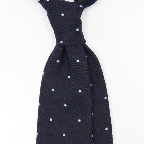cravata_lana_handmade_polka_dots_bleumarin_1