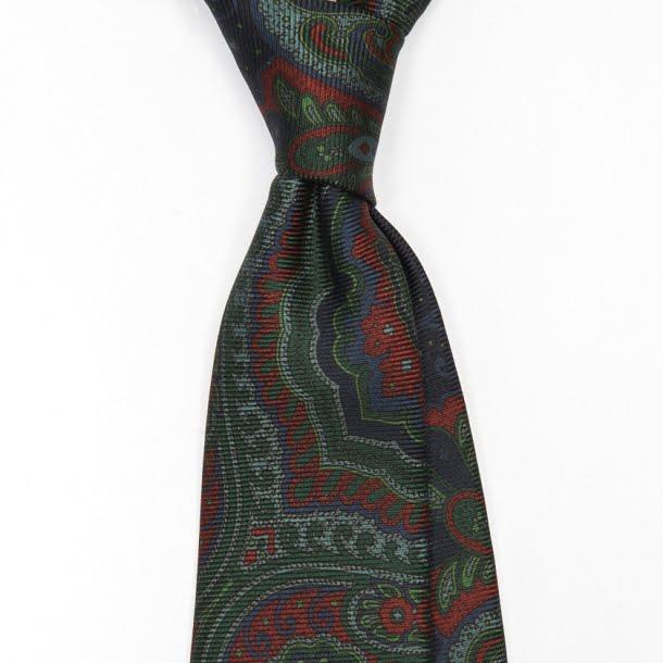 cravata_matase_handmade_ancient_madder_verde_1