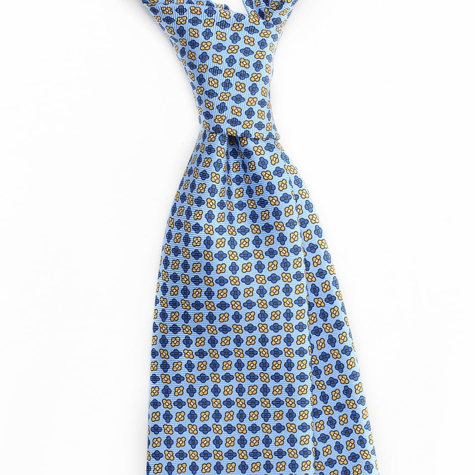 Cravata matase geometric