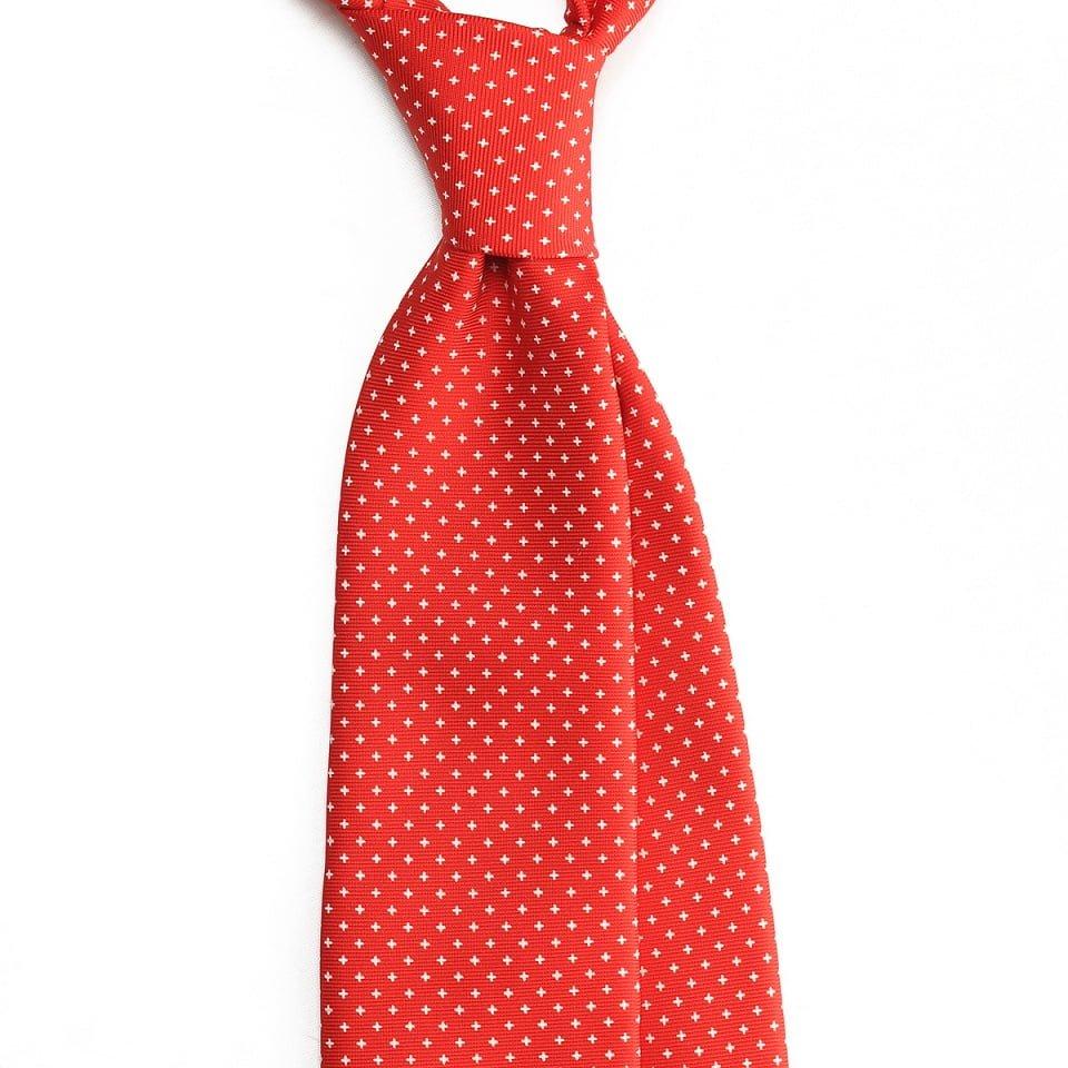 cravata matase geometric rosie
