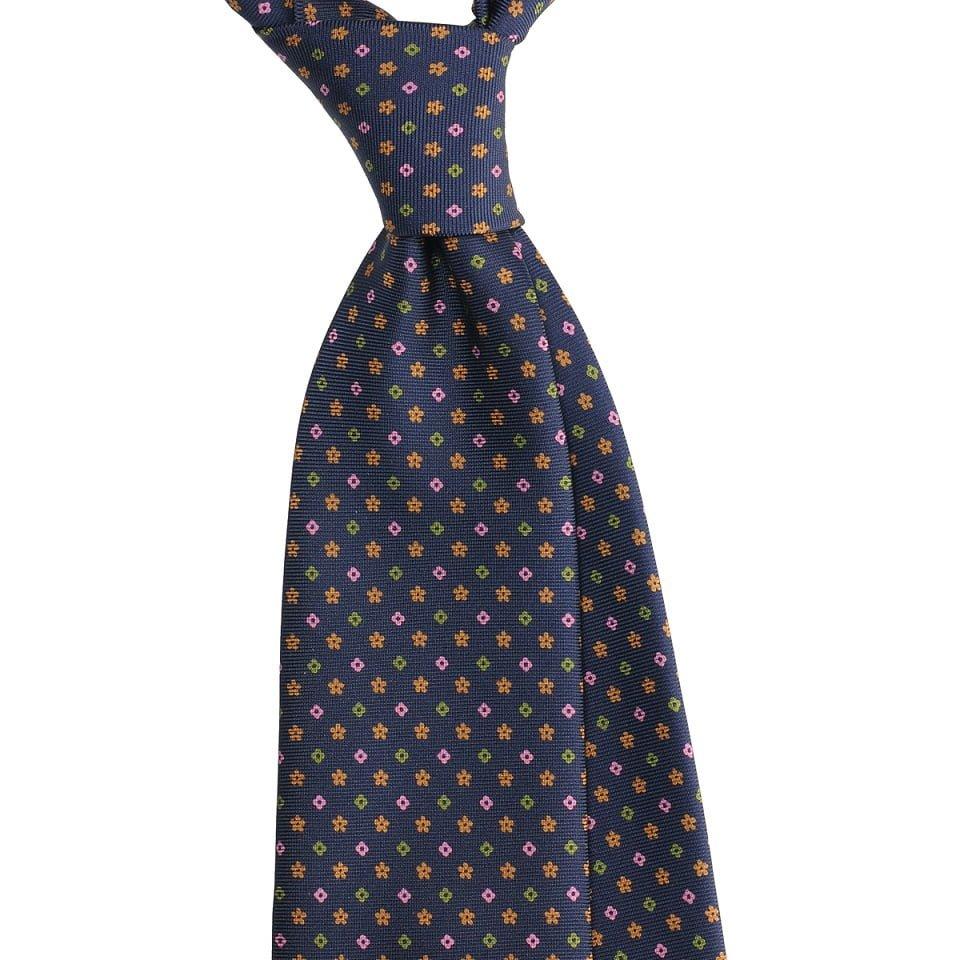 Cravata matase handrolled floral