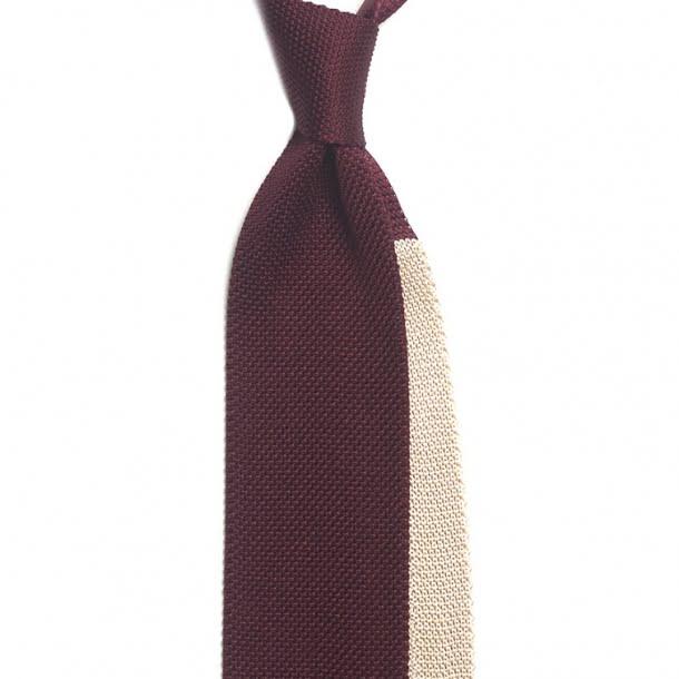cravata visinie din matase tricotata