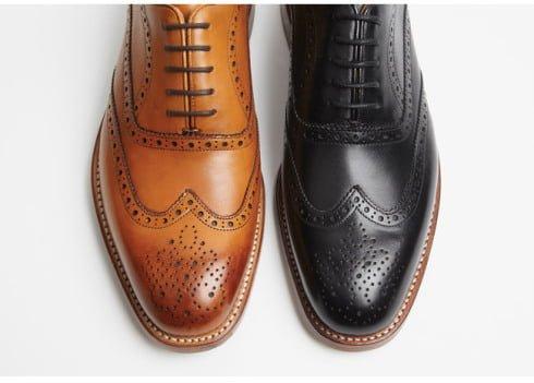 Pantofi oxford maro si negru