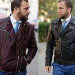 Jacheta de piele biker