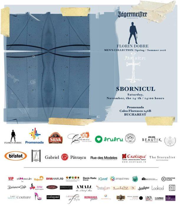 Florin Dobre- ,,SBORNICUL'' S/S 2016 collection,Bucharest November 14th, 14:00h at Promenada