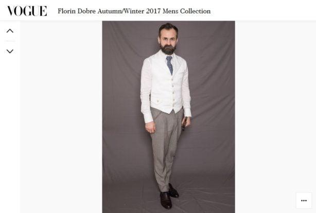 Florin Dobre, si-a prezentat la Londra noua colectie A/W 2017 denumita ,,Mr.Mister''