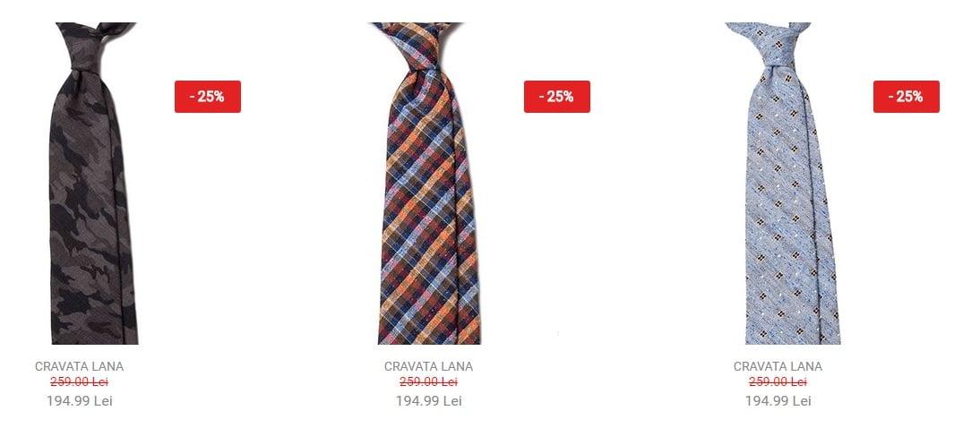 Reducere de 25% plus încă 10% la produsele The Urban Ties