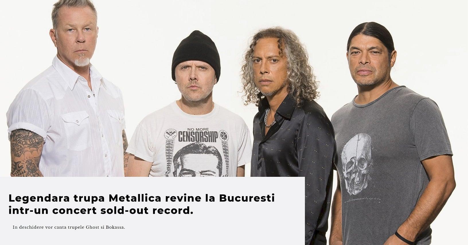 Metallica vine pentru a patra oară în România
