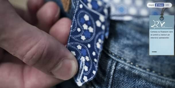 fixator cămașă în pantaloni