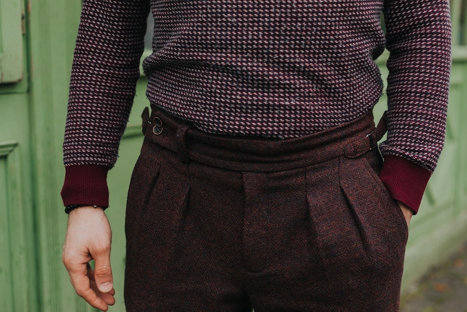 helanca în pantaloni