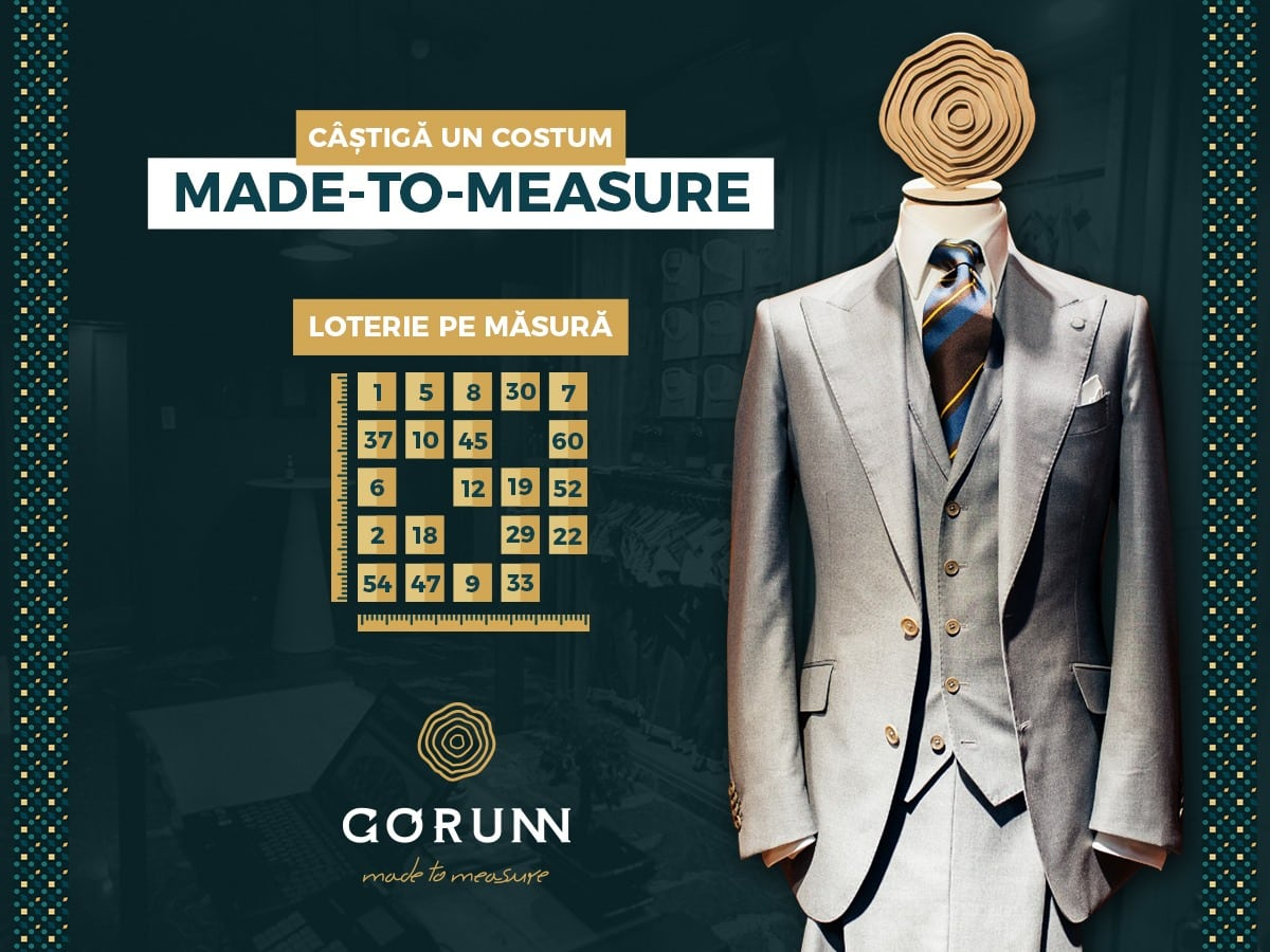 Câștigă un costum made to measure de la Gorunn