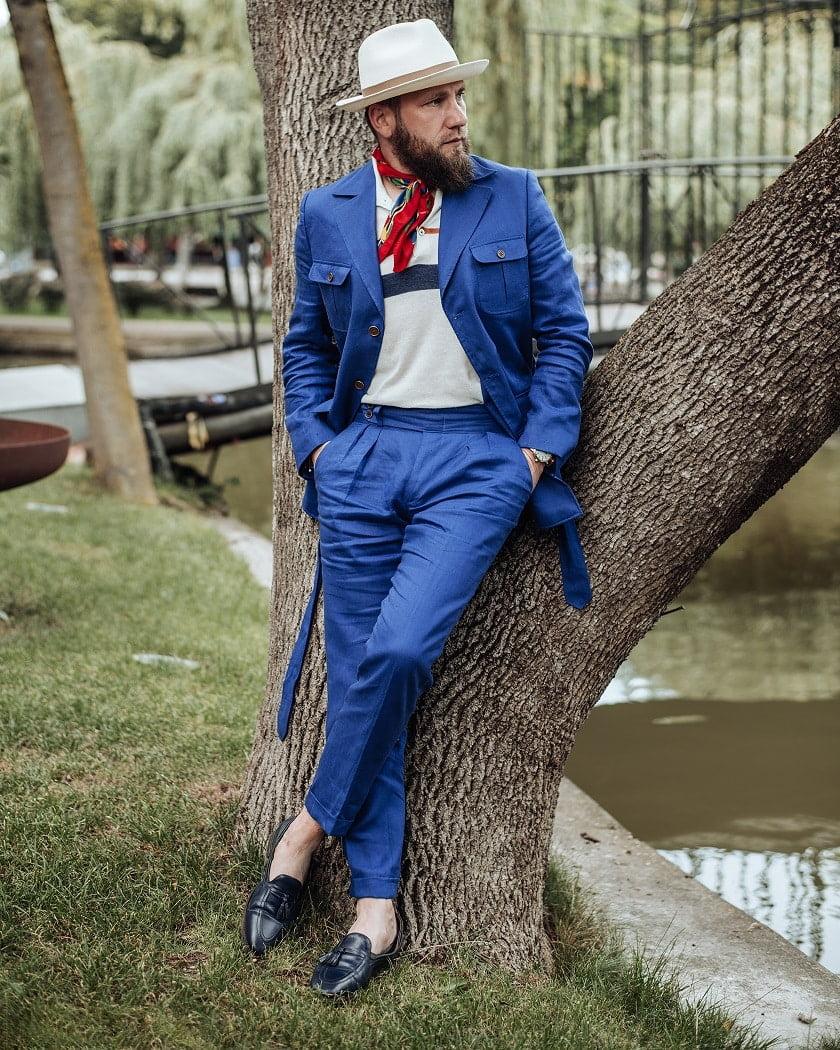 Costum safari Patrick Uomo la comanda Stil Masculin tricou clasic polo
