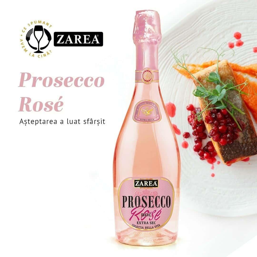 ZAREA Prosecco Rosé- o noutate pentru iubitorii vinurilor spumante